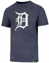47 Brand Detroit Tigers NHL Knockaround Club Tee Navy T-Shirt Mens Forty Seven