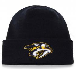 47 Brand NHL Nashville Predators Raised Cuff Knit Beany Hat One Size Mütze Forty Seven