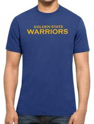 47 Forty Seven Brand Golden State Warriors MVP Splitter Tee NBA T-Shirt Mens