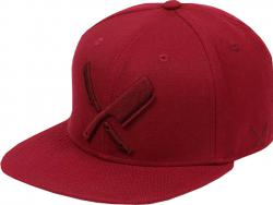 Distorted People Barber & Butcher Symbol Logo Red Red Snapback Cap Basecap OSFA One Size