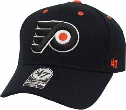 Forty Seven 47 Brand Philadelphia Flyers Kickoff Contender Curved Visor Stretch Fit Cap NHL Limited Edition
