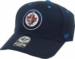 Forty Seven 47 Brand Winnipeg Jets Kickoff Contender Curved Visor Stretch Fit Cap NHL Limited Edition