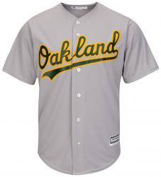 Majestic Athletic Oakland Athletics Cool Base MLB Replica Jersey Grey Baseball Trikot Tee T-Shirt