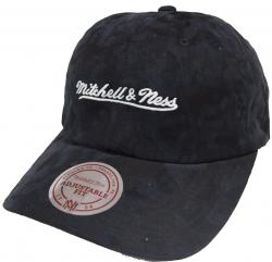Mitchell & Ness Black INTL078 Branded Tonal Camo Dad Hat Strapback Cap