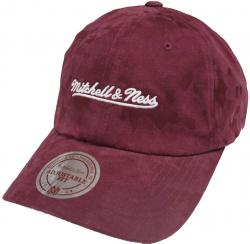 Mitchell & Ness Burgundy INTL078 Branded Tonal Camo Dad Hat Strapback Cap