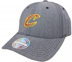 Mitchell & Ness Cleveland Cavaliers BH72G3 110 Curved Poly Heringbone NBA Flexfit Snapback Cap One Size