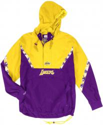 Mitchell & Ness Los Angeles Lakers Half Zip Team Colour Anorak Jacket Windbreaker NBA HWC Jacke