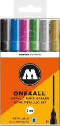 Molotow One4All 127 HS 6er Metallic Kit Marker Set box
