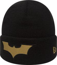 New Era Batman Character Knit Black Gold Youth Beanie Beany Wool Jugendliche
