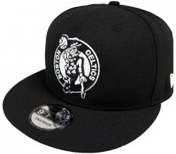 New Era Boston Celtics NBA Black White Logo 9fifty Snapback Cap Limited Edition