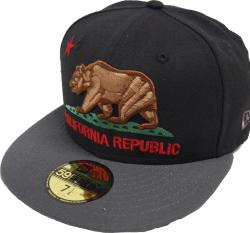 New Era California Edition Cali Republic Black Cap 59fifty Basic Fitted Basecap