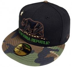 New Era California Republic Black Camo 59fifty 5950 Fitted Cap Limited Edition