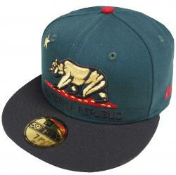 New Era California Republic Dark Green Black 59fifty Fitted Cap Limited Edition
