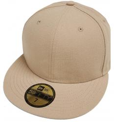 New Era Camel Khaki Blanc Blank 59fifty 5950 Fitted Cap Kappe Men