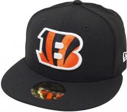 New Era Cincinnati Bengals Solid Black On Field NFL Cap 59fifty 5950 Fitted Limited Edition