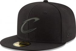New Era Cleveland Cavaliers Black On Black Cap 59fifty 5950 Fitted Men Special Limited Edition