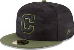 New Era Cleveland Indians Memorial Day Fitted Cap 59fifty Basecap Limited Special Edition