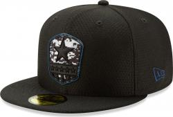 New Era Dallas Cowboys On Field 19 Salute To Service STS Black Cap 59fifty 5950 Fitted Limited Edition