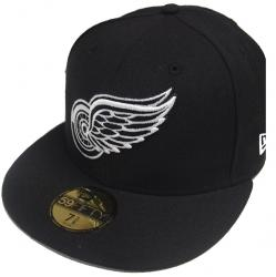New Era Detroit Red Wings Black White 59fifty Fitted Cap Basecap Limited Edition