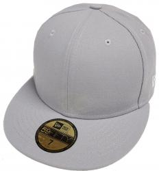 New Era Gray Grey Grau Blanc Blank 59fifty 5950 Fitted Cap Kappe Men