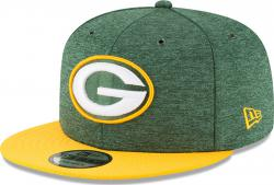 New Era Green Bay Packers On Field 18 Sideline Home Snapback Cap 9fifty 950 M L