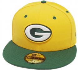 New Era Green Bay Packers Yellow Green TC 2 Tone Cap Team Back 59fifty Fitted Limited Edition