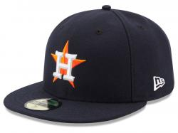 New Era Houston Astros AC Performance Home 59fifty Fitted Cap MLB Authentics