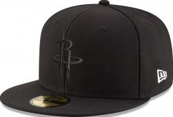 New Era Houston Rockets Black On Black Cap 59fifty 5950 Fitted Men Special Limited Edition