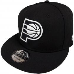 New Era Indiana Pacers NBA Black White Logo 9fifty Snapback Cap Limited Edition