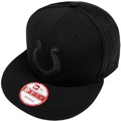 New Era Indianapolis Colts  Black On Black Snapback Cap 9fifty Limited Edition