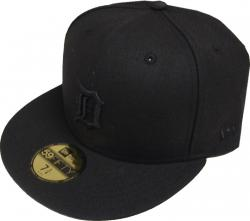 New Era MLB Detroit Tigers Black On Black 59fifty Fitted Cap Limited Edition
