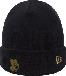 New Era Mickey Mouse Character Knit Navy Gold Toddler Beanie Beany Wool Hat Kleinkind