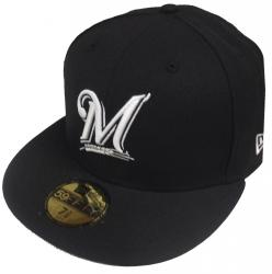 New Era Milwaukee Brewers Black White 59fifty Fitted Cap Basecap Limited Edition