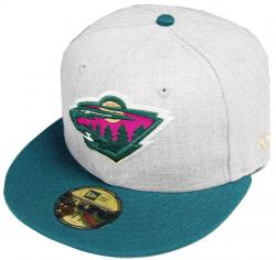 New Era Minnesota Wild Heather Cap 59fifty 5950 Fitted Special Limited Edition