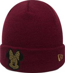 New Era Minnie Mouse Character Knit Maroon Gold Child Beanie Beany Wool Hat Kind