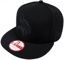 New Era NFL Minnesota Vikings Black On Black Snapback Cap 9fifty Limited Edition