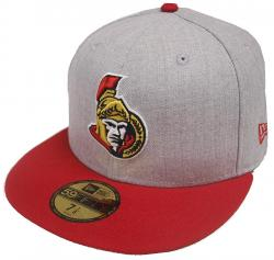 New Era NHL Ottawa Senators Heather Grey 59fifty Fitted Cap Limited Edition Mens