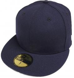 New Era Navy Blue Dunkelblau Blanc Blank 59fifty 5950 Fitted Cap Kappe Men
