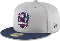 New Era New England Patriots NFL Sideline 18 Road On Field Cap 59fifty Fitted OTC