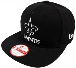 New Era New Orleans Saints Black White Logo Snapback Cap 9fifty Limited Edition