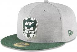 New Era New York Jets NFL Sideline 18 Road On Field Cap 59fifty Fitted OTC