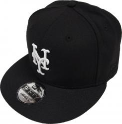 New Era New York Mets Black White Logo Snapback Cap 9fifty Limited Edition