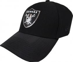 New Era Oakland Raiders NFL Black Collection Stretch Fit Cap 3930 39thirty Curved Visor S M