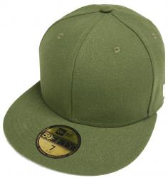 New Era Original Basic Rifle Green Rig Blanc Blank 59fifty 5950 Fitted Cap Kappe Men