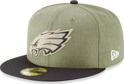 New Era Philadelphia Eagles On Field 18 Salute To Service Cap 59fifty 5950 Fitted Limited Edition
