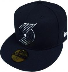 New Era Portland Trailblazers NBA Black White 59fifty 5950 Fitted Cap Limited Edition