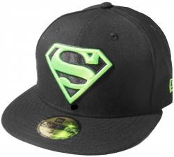 New Era Superman Black Lime Green 59fifty 5950 Fitted Cap DC Comics Kappe Limited Edition