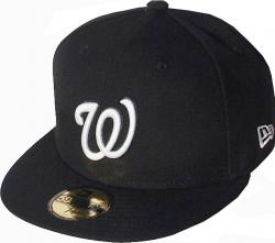 New Era Washington Nationals Black White Logo Cap 59fifty 5950 Fitted MLB Limited Edition