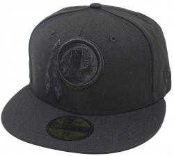 New Era Washington Redskins Black On Black Cap 59fifty 5950 Fitted Men NFL Special Limited Edition