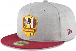 New Era Washington Redskins NFL Sideline 18 Road On Field Cap 59fifty Fitted OTC